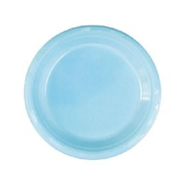 72 Units of Seven Inch Fifteen Count Plate Baby Blue - Party Paper Goods