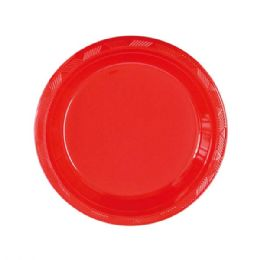 108 Units of Seven Inch Fifteen Count Plate Red - Party Paper Goods