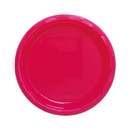 """72 Units of 9""""/10 count plate fuchsia - Party Paper Goods"""