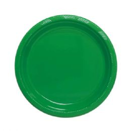 """72 Units of 9""""/10 count plate green - Party Paper Goods"""