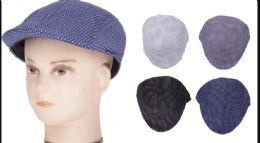72 Units of Mens Driver Hat /cap Golf Hat - Fedoras, Driver Caps & Visor
