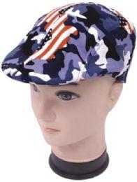 72 Units of Mens Driver Hat /cap Golf Hat Usa Print - Fedoras, Driver Caps & Visor