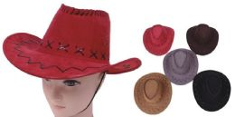 96 Units of Unisex Assorted Color Cowboy Hat - Cowboy & Boonie Hat