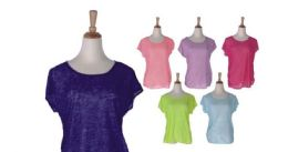 72 Units of Women's Assorted Color Fashion Tops - Womens Fashion Tops