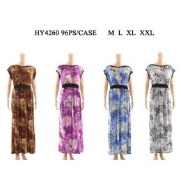 48 Units of Women Fashion Long Sun Dress In Assorted Size And Color - Womens Sundresses & Fashion