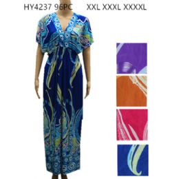 36 Units of Womens Fashion Summer Dress In Plus Sizes Assorted Color - Womens Sundresses & Fashion