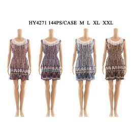 72 Units of Womens Fashion Summer Romper With Lace Neck - Womens Rompers & Outfit Sets