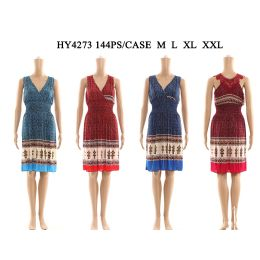 48 Units of Womens Fashion Short Sun Dress In Assorted Color And Size - Womens Sundresses & Fashion