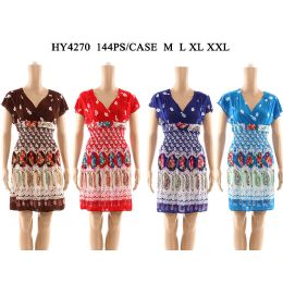48 Units of Womens Fashion Short Summer Dress In Assorted Color And Size - Womens Sundresses & Fashion
