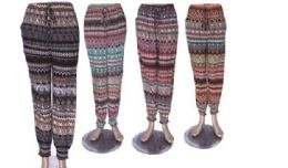 60 Units of Ladies Printed Lounge Pants / Summer Pants Cotton Blend - Womens Pants