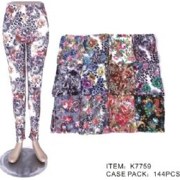 72 Units of Womens Fashion Legging Assorted Styles, And Size Polyester Lycra Blend - Womens Leggings