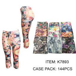 72 Units of Ladies Capri Leggings - Womens Leggings