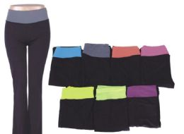 72 Units of Womans Assorted Color Yoga Pants Assorted All Sizes - Womens Leggings
