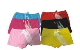 120 Units of Womens Cotton Boxer Shorts Underwear - Womens Panties & Underwear