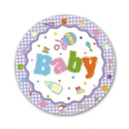 "96 Units of 7""/8 count paper plate shower - Baby Shower"