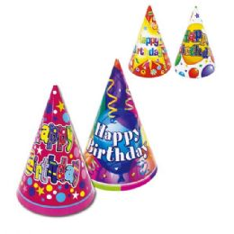 144 Units of Party Hat Six Count - Party Favors