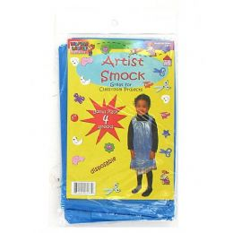 72 Units of Disposable Children's Artist Smock 4 Pack - Art Paints