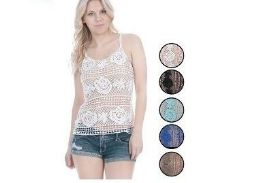 60 Units of Ladies Fashion Crochet Top Assorted Colors - Womens Fashion Tops