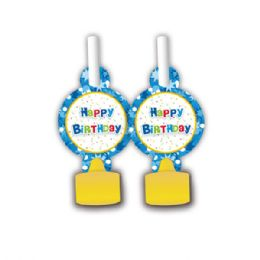 96 Units of B'day blowouts 8 count - Party Favors