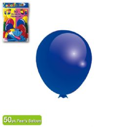 36 Units of Pearl Balloon Royal Blue Twelve Inch Fifty Count - Balloons & Balloon Holder