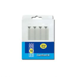 "96 Units of 4""/10 Count candlestick White - Candles & Accessories"