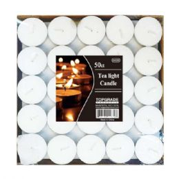 24 Units of 50 Count tea light candle - Candles & Accessories