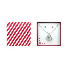 36 Units of Flower Shaped Necklace And Earring Gift Box Set - Jewelry & Accessories