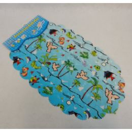 "60 Units of 26""x15"" Printed Seashell Bath Mat - Bath Mats"