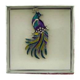 36 Units of Peacock Pin With Gift Box - Jewelry & Accessories