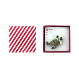 36 Units of White Owl Pin - Jewelry & Accessories