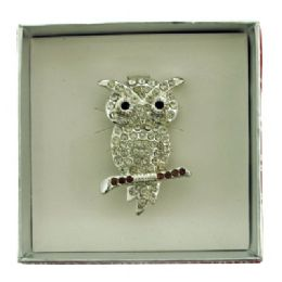 36 Units of Owl Pin With Gift Box - Jewelry & Accessories