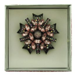 36 Units of Snowflake shaped pin with gift box - Jewelry Box