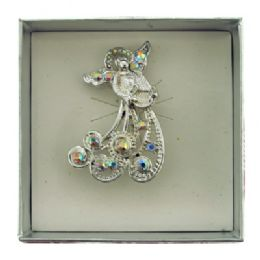36 Units of Silver Tone Angel Holding A Harp Pin With Gift Box - Jewelry & Accessories