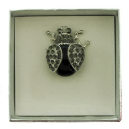 36 Units of Lady Bug Pin With Gift Box - Jewelry & Accessories