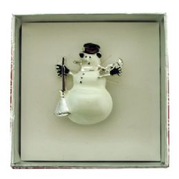 36 Units of Snowman Pin With Gift Box - Jewelry & Accessories