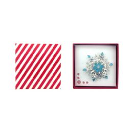 36 Units of Snow Flake Pin Gift Box - Jewelry & Accessories