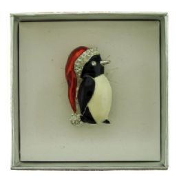 36 Units of Penguin Pin With Gift Box - Jewelry & Accessories