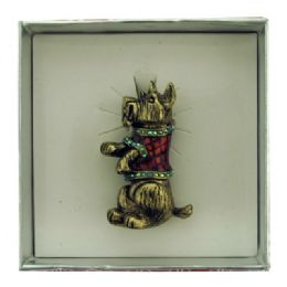 36 Units of Dog Wearing Christmas Sweater Pin With Gift Box - Jewelry & Accessories