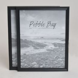 240 Units of Document Frame 8.5x11 Black Plastic 2 Profiles In 12pc Pdq Shrink W/upc Label - Picture Frames