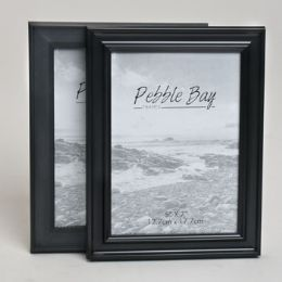 240 Units of Photo Frame 5x7 2ast Black Plastic In 12pc Pdq Shrink/label - Picture Frames
