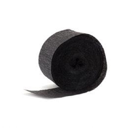 144 Units of Crepe streamer black - Streamers & Confetti