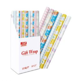 "96 Units of Gift wrap Baby shower 30x84"" 17.5 Square Feet - Gift Wrap"