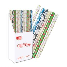 """96 Units of Gift Wrap Everyday 30x84""""/ 17.5 Square Feet - Gift Wrap"""