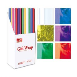 "96 Units of Hologram gift wrap 30x72"" - Gift Wrap"