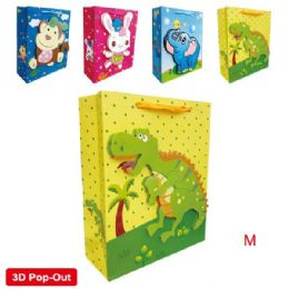 """144 Units of 3D Animation bag 7.5x9x4""""/M - Gift Bags"""