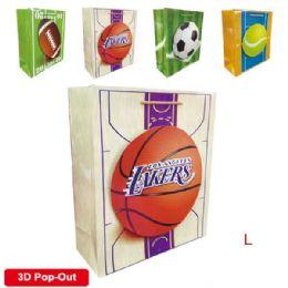 "144 Units of 3D Gift bag 10.5x13x5.5""/L - Gift Bags"