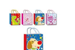 144 Units of Animation Bag Large - Gift Bags Assorted