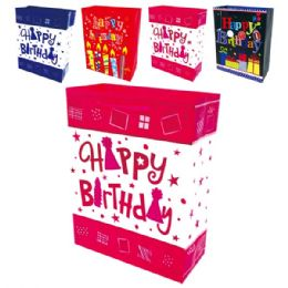 "144 Units of B'day HS 13x18x5.5""/XL - Gift Bags"