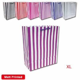 144 Units of Gift Bag Stripes In Extra Large - Gift Bags Assorted