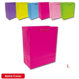 144 Units of Gift Bag Solid Colors - Gift Bags Assorted